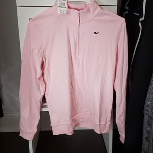 Vineyard Vines- Pink Girls 1/4 Zip Pull